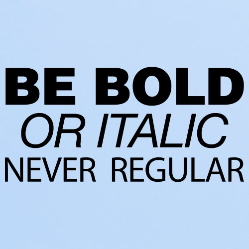 Be Bold T-Shirt, Herren Himmelblau