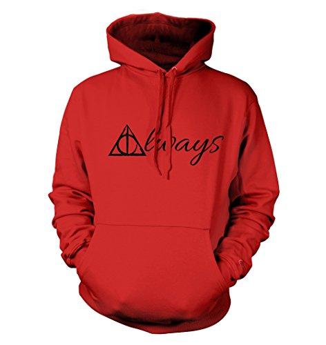 net-shirts Always Hoodie Kapuzenpullover mit Aufdruck Inspired by Harry Potter, Größe XXL, Rot