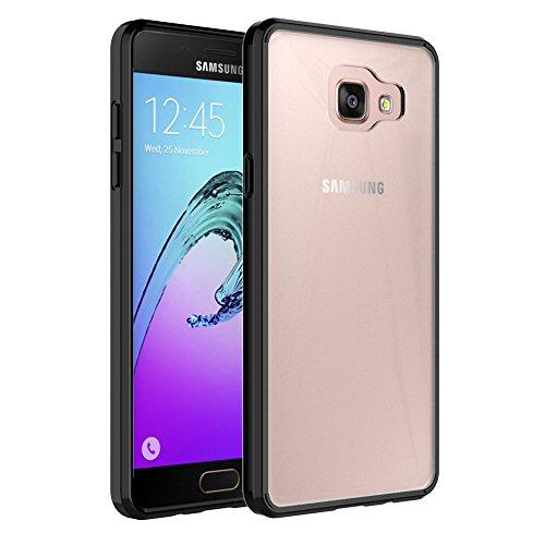 FoneExpert® Samsung Galaxy A5 (2016) - Ultra Air Hybrid Etui Housse Coque La face arrière Claire Avec Bumper en TPU Case Cover pour Samsung Galaxy A5 (2016) (Noir)