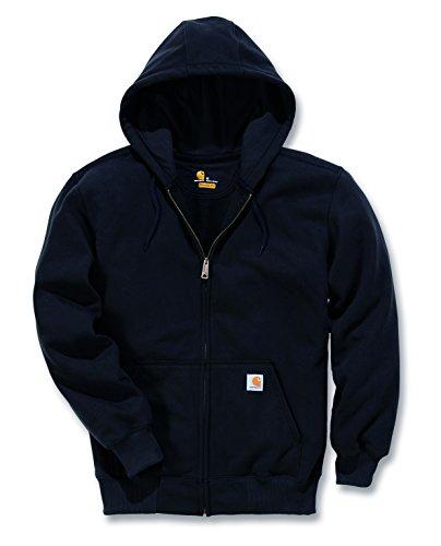 Carhartt 100614 Paxton Heavyweight Hooded Zip-Front Sweatshirt - Arbeits-Kapuzenjacke, XXL, Farbe: Schwarz Zip Front Hooded Sweatshirt Shirt