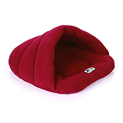 Fleece Pet Cave Nest Bed Cushion for Cats And Dogs Soft Warm Basket House Bag Mat Puppy Pad Roof