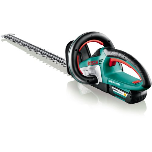 Bosch Cordless Hedgecutter AHS 54-20 LI (battery, charger, cardboard box, 36 V,  battery charge time: 45 minutes, cutter bar length: 540 mm, tooth spacing: 20 mm)