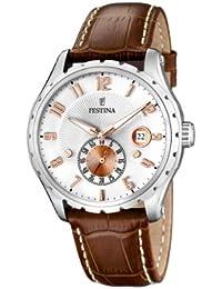 FESTINA F16486/3 - Reloj de caballero de cuarzo, correa de piel color marrón