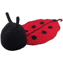 d448225d39957 Nouveau-né bébé Photo de bébé Prop Outfit Costume Crochet Caps Couverture  Bonnet tricoté Photopraphy