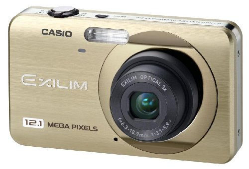 Casio EXILIM EX-Z90 GD Digitalkamera (12,1 Megapixel, 3-fach opt. Zoom, 6,9 cm (2,7 Zoll) Display) champagner