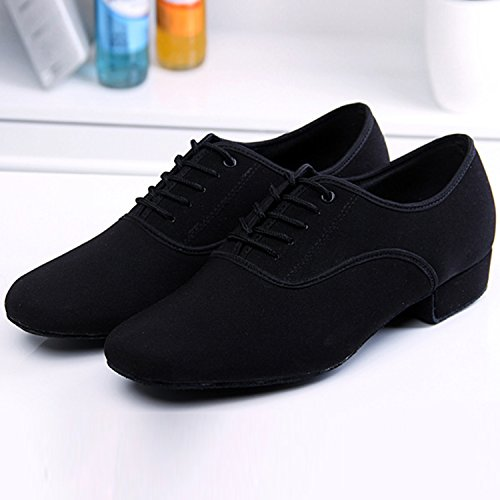 Oasap Men's Oxford Lace-up Ballroom Dancing Shoes Black