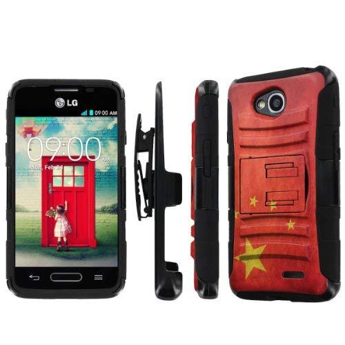 NakedShield LG Optimus L90 Nakedshield Lg Optimus L70 (Flag China) Combat Tough Holster Kickstand Armor Phone Case