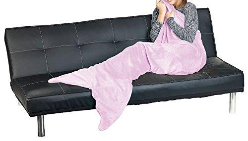 Wilson Gabor Schwanzflossen-Decke: Weiche Meerjungfrau-Decke mit Flosse für Kinder, 140 x 60 cm, rosa (Decken im Meerjungfrauen-Stil)