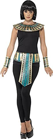 Smiffy's Women's Egyptian Kit, Collar, Cuffs & Belt, One Size, Color: Gold, 41556