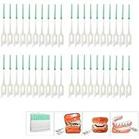 Vivianu - Juego de 40 cepillos dentales de limpieza dental