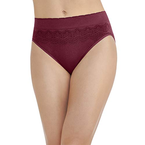Vanity Fair Damen Pinch-No Show Seamless Hi Cut Panty 13171 Unterhose, Speakeasy, XX-Large (35) - Bikini Slip Hanes