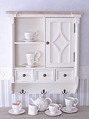 Wall Cabinet Country Style Wall Shelf Hanging Shelf White Kitchen Cupboard
