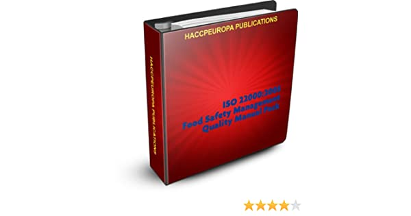 Food safety management system manual ebook array iso 22000 food safety management quality manual pack ebook rh amazon fandeluxe Images