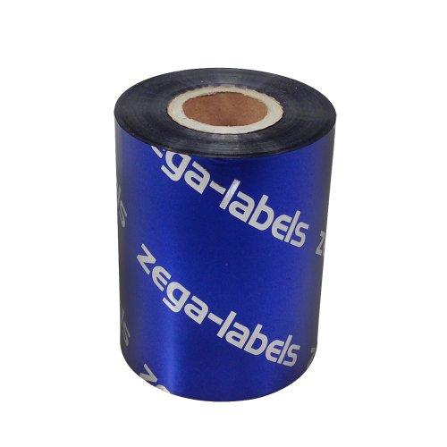 Thermotransfer Farbband schwarz 80 mm x 300 m - zega blue (Wachs Premium) - Farbseite AUSSEN - für Industriedrucker Zebra ZT-Serie/ZM400/Z4M+/S4M/ZD420T/ZD620T mit 1 Zoll Kern 25 mm - für Papieretiketten Bedruckung -
