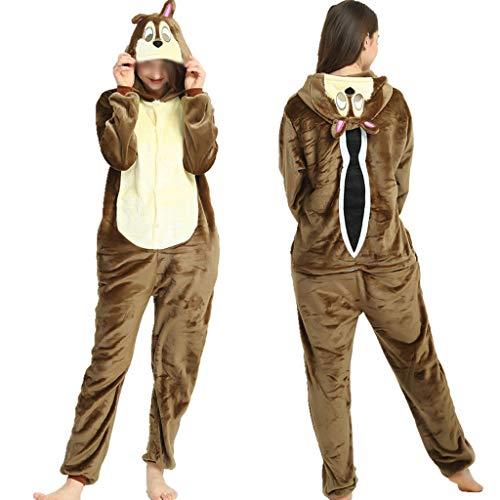 Higuo Nachthemd Schlafanzug Siamese Langer Schnitt Mit Kapuze Nachthemd Schöne Trainingsanzug Bademantel (Farbe : Brown Monkey, größe : ()