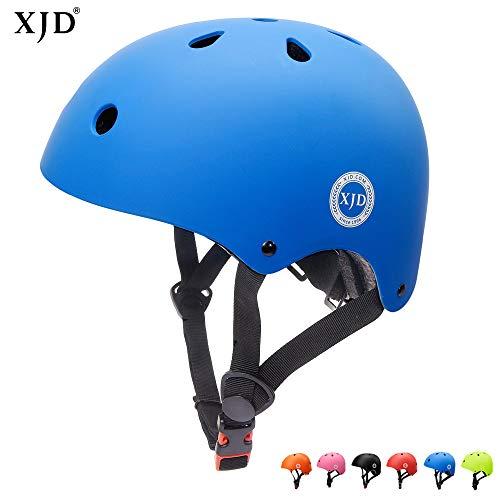 XJD Verstellbarer Kinder-Helm für Multisport, BMX, Skateboard, Fahrradhelm, XJD-KH102M, blau, M: 55-57 cm / 21.65'-22.44'