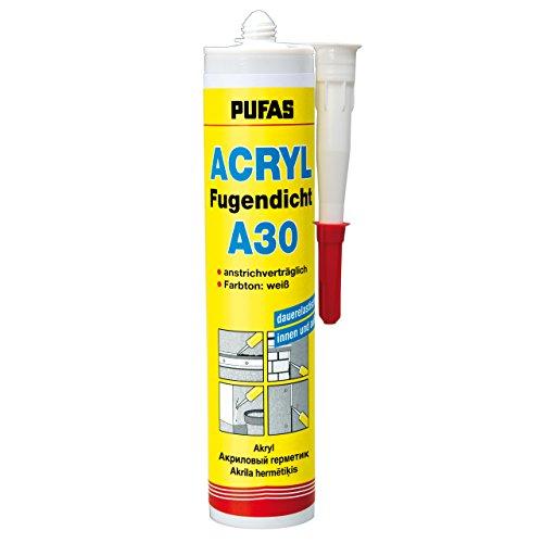 Pufas Acryl Fugendicht A 30 12x310ml Fugenacryl weiß