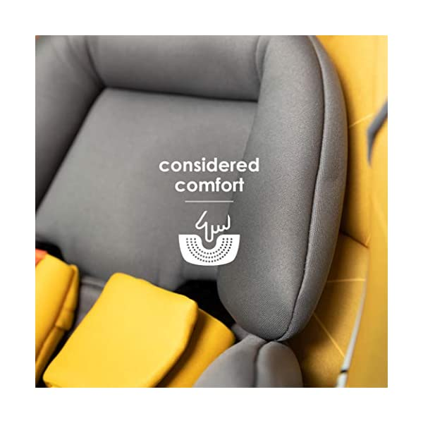 Diono Radian 5, Group 0+/1/2 Car Seat, Extended Rear-Facing from Birth to 25kg, Forward-Facing 9-25kg, Dark Grey Diono The Original 3 Across Car Seat: Radian 5's clever design has a slimline profile allowing you to install three across in your vehicle without compromising internal seat dimensions or comfort. Worth the weight: Engineered with the famous Diono full, high-strength steel core that forms an unyielding structure to shield and protect your little one. Extended rear-facing: Keep your little ones in the safest travel position for as long as possible, from birth up to 25 kgs (approx. 6 years old). 11