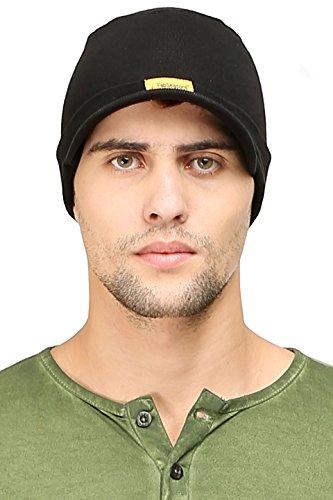FabSeasons Cotton Skull Cap (Black)