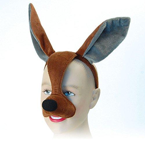 Bristol Novelty EM343Känguru-Gesichtsmaske mit Haarband, mehrfarbig, ()
