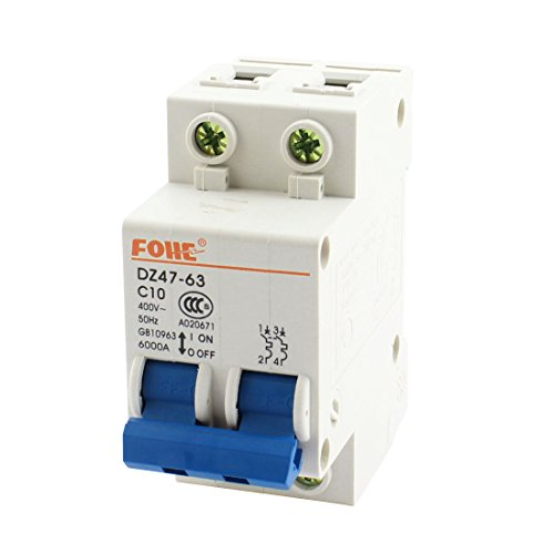 DZ47 - 63 35 mm DIN Rail Mount doppia Pole Circuit Breaker AC400 V