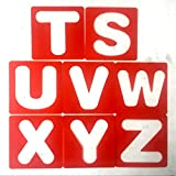 Flushzing 26pcs Letras del Alfabeto de la Plantilla + 10PCS Número PP Plantillas Conjunto de Plantillas Pintura Dibujo Aprendizaje DIY de Scrapbooking del Arte