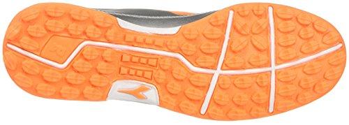 Diadora 650 III TF, Pour les Chaussures de Formation de Football Homme Gris (Argento Dd/arancio Fluo)