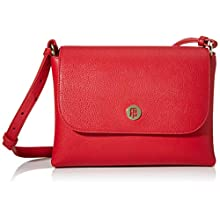 Tommy Hilfiger Th Core Flap Crossover, Women's Cross-Body Bag, Red (Barbados Cherry), 1x1x1 cm (W x H L)