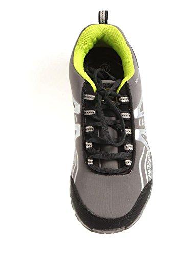 ConWay Wanderschuhe Trekkingschuhe Schuhe ConTex mehrfarig Leichtgewicht Grau-Neon