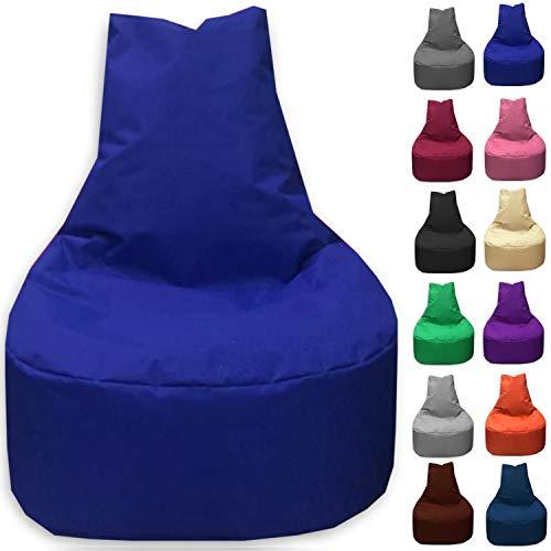 Sitzbag Sitzsack Sessel XL - XXL für Kinder und Erwachsene - In & Outdoor Sitzsäcke Kissen Sofa Hocker Sitzkissen Bodenkissen (XL - 68cm Durchmesser, Blau) - Sitzsack Kind