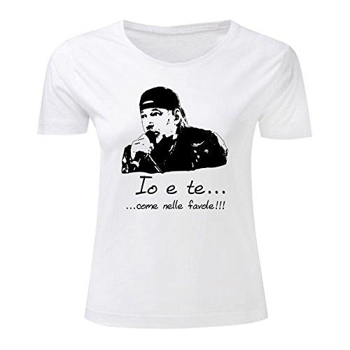 Art T-shirt, Maglietta Vasco Favole, Donna Bianco