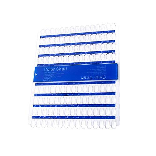 120 Plaques Acryliques UV Pédicure Vernis à Ongles De Couleur D'art Affichage Graphique