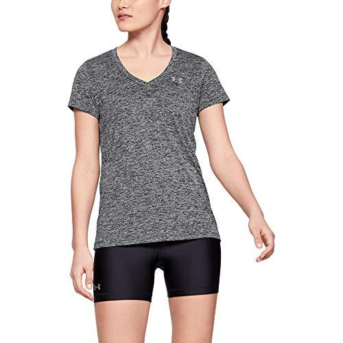 Under Armour Damen UA Tech Oberteil, kurzärmliges & atmungsaktives Laufshirt für Frauen, ultraleichtes T-Shirt mit loser Passform
