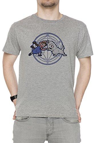 Vollmetall Verschmelzung Ha! Herren T-Shirt Rundhals Grau Kurzarm Größe M Men's Grey Medium Size M Chimera Medium Video