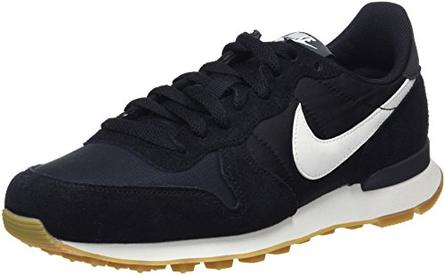 Nike Damen Internationalist Sneakers Mehrfarbig (Black/Summit White/Anthracite/Sail 001) 41 EU