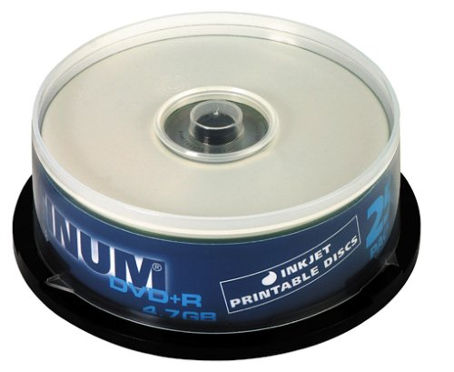 Platinum DVD+R 4,7 GB Bedruckbare DVD-Rohlinge (16x Speed) 25er Spindel (printable)
