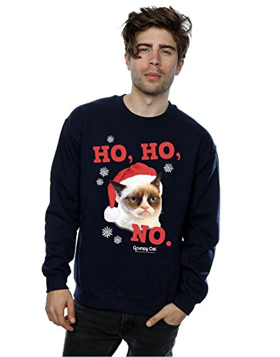 Grumpy Cat Herren Ho Ho No Christmas Sweatshirt XX-Large Marine