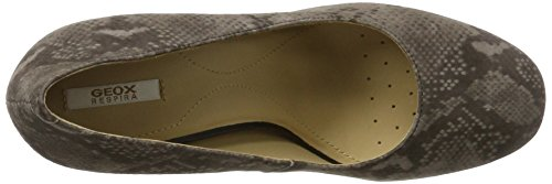 Geox D Audalies High A, Scarpe con Tacco Donna Marrone (Taupe)