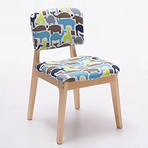 Fauteuils Chaise à manger en bois massif Chaise en bois créative Chaise à la mode Fauteuils et Chaises (Couleur : B)