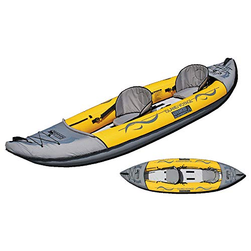 Advanced Elements Island Voyager Kayak gonfiabile per 2 persone, Unisex Adulto, Amarillo, Talla única