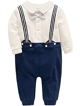Bambino Pagliaccetto in Cotone Ragazzi Pigiama Neonato Tutina Gentiluomo Outfits