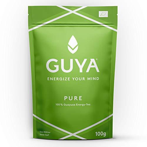 Bio Guayusa Tee lose (Pure Infusion) 40 Tassen (2,5g pro Portion) 100g Beutel. Frei von Konservierungsstoffen. Laborgeprüft, reich an Koffein und L-Theanin, vegan + made in DE