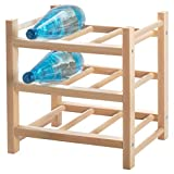IKEA ASIA HUTTEN Weinregal für 9 Flaschen Massivholz