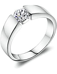 Adisaer Anneaux de Mariage 925 Sterling Argent Alliance avec Zircone Couple Anneau Partneranneaux Anneaux D'Amitié