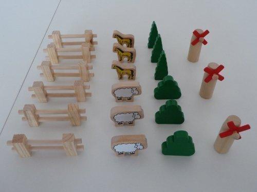 point-kids Holzeisenbahn Bauernhof Holz Set 21 Teile