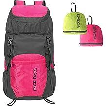 PACK BAGS Faltbarer Rucksack 40 Liter (Farbe wählbar) für Einkauf, Tagesausflüge, Städte-Trips, Reisen | Ultraleicht (340 g) | Perfektes faltbares Handgepäck f. extra Stauraum | Herren & Damen