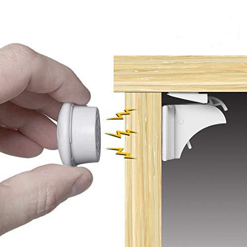 HomySnug Magnetische baby Lock, Kindersicherung magnetschloss für Schränke und Schubladen 8 Schlösser und 2 Schlüssel