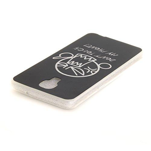 Qiaogle Telefono Case - Soft Custodia in TPU Silicone Case Cover per LG X Screen / K500N (4.93 Pollici) - TX39 / Don't Touch My Phone