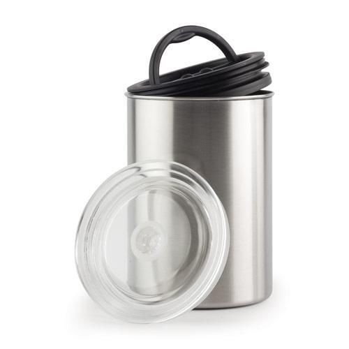Coffee Storage Canister - Airtight Container Preserves Food Freshness - AirScape Steel - 64 fl. oz -...