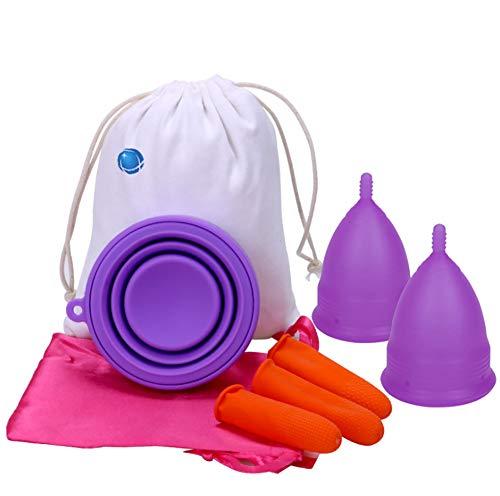 Zcthk Copas menstruales Juego 2 Bolsa Gratis Mejor